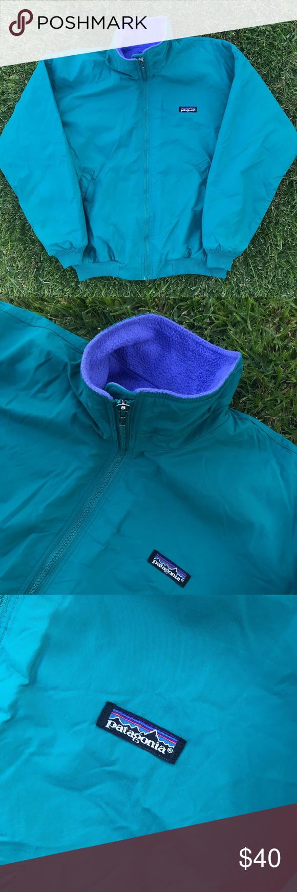 Vintage us patagonia nylon fleece jacket menus m details clean