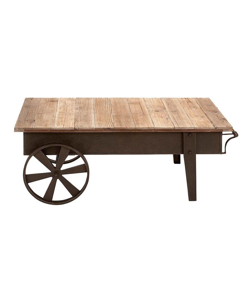 Wood Cart Coffee Table By Uma Enterprises Zulily Zulilyfinds Coffee Table Wood Metal Wood Coffee Table Rustic Coffee Tables [ 1152 x 959 Pixel ]