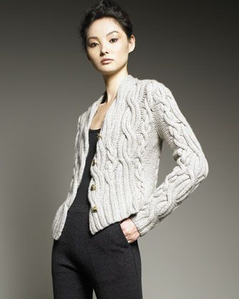 TSE Cashmere Cable-Knit Cashmere Cardigan - Bergdorf Goodman ... aaa9471d5