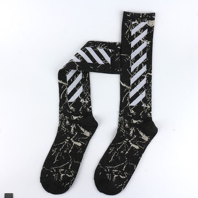 0744c82d84c1 Striped tie dye socks Men Hip Hop Compression Off White Socks ...
