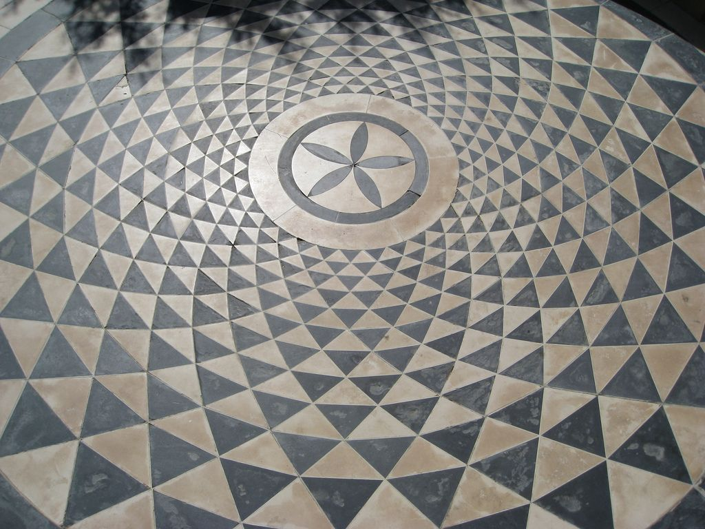 Concentric Circular Pattern Floor Floor Patterns Paving Pattern