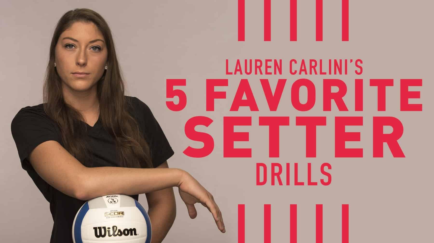 Lauren Carlini S 5 Favorite Setting Drills Volleyball Workouts Volleyball Drills Volleyball Training