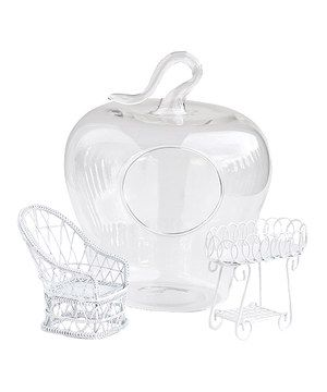 Another great find on #zulily! Apple Terrarium & Two Piece Fairy Furniture Set by Georgetown Home and Garden #zulilyfinds