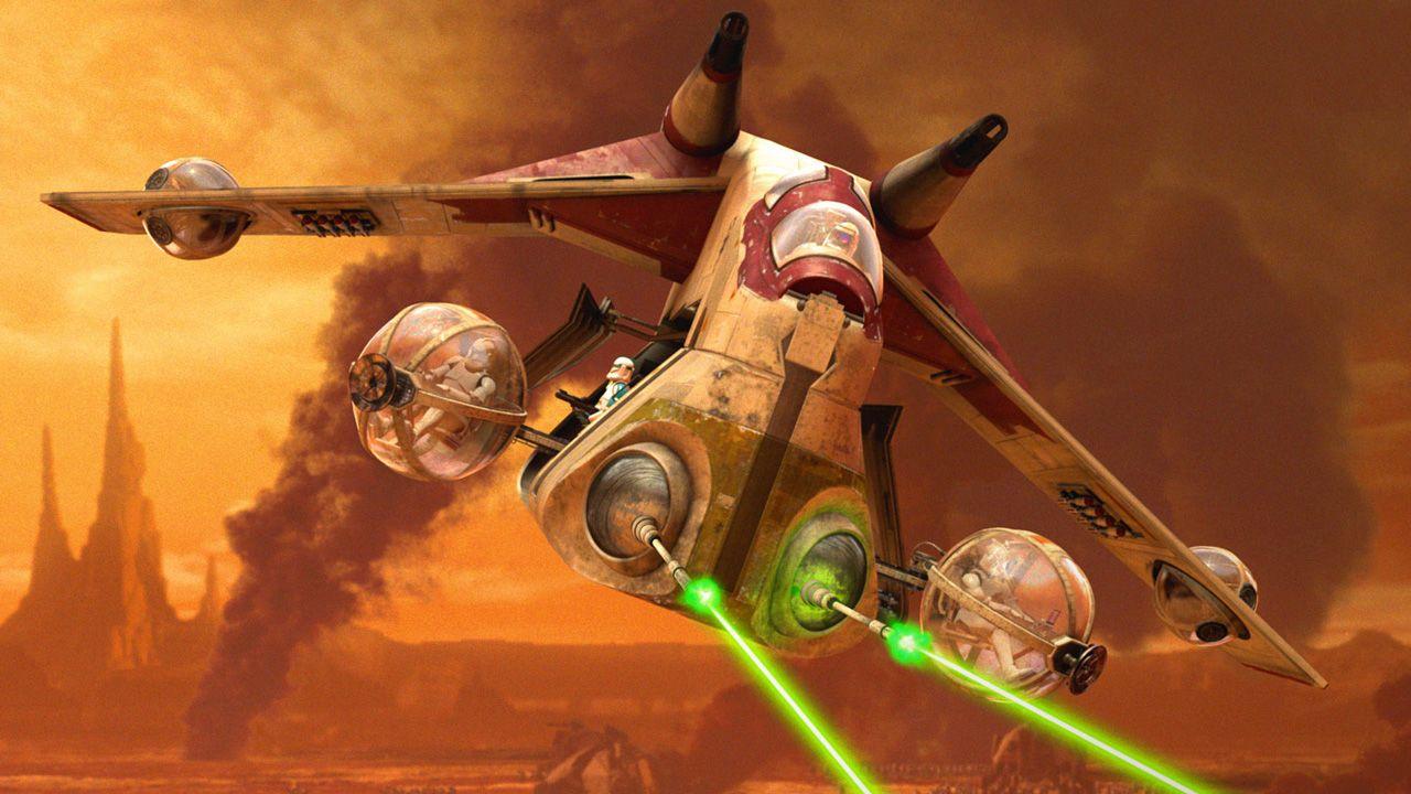Clone War Era Republic Gunship Star Wars Wallpaper Star Wars Episode Ii Star Wars Awesome