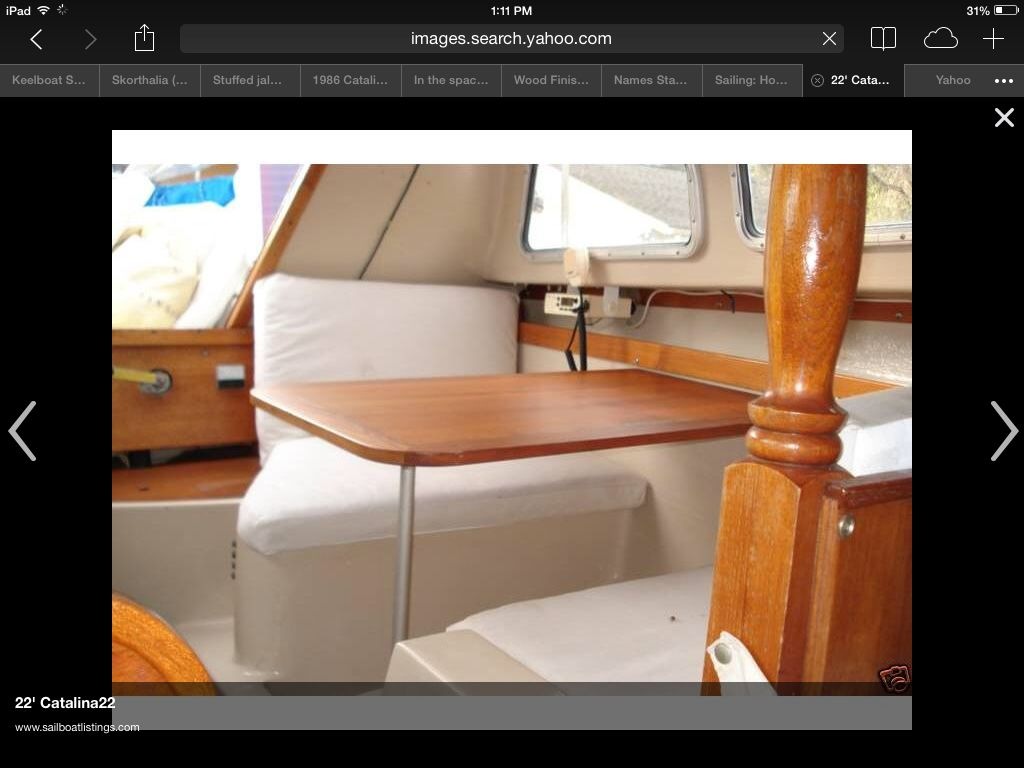 hight resolution of catalina 22 interior