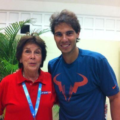 Maria Ester Bueno and Rafael Nadal