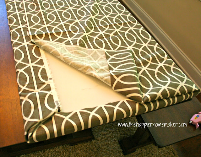 Fast DIY No Sew Bench Cushion without Plywood The