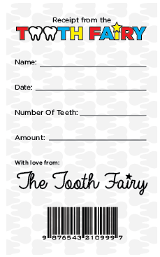 National Tooth Fairy Day Free Printable Tooth Fairy Receipt Tooth Fairy Certificate Tooth Fairy Letter