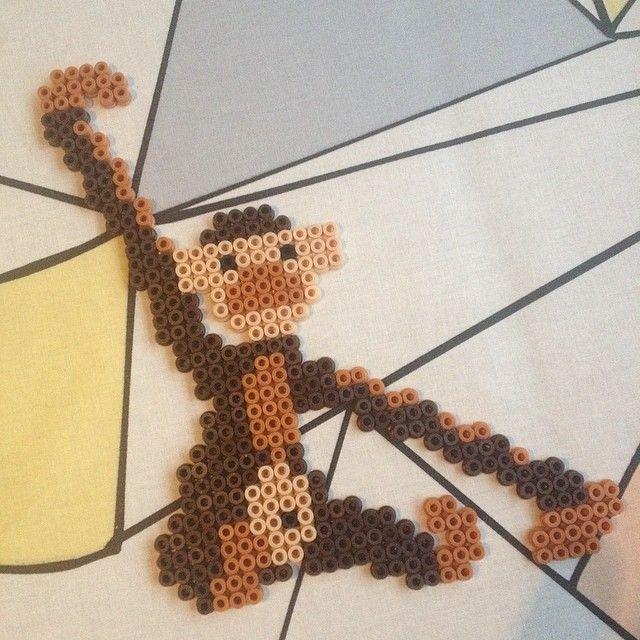 Monkey hama perler by michelebayolsen