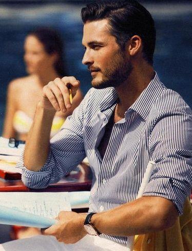 Dress shirt color for tan skin