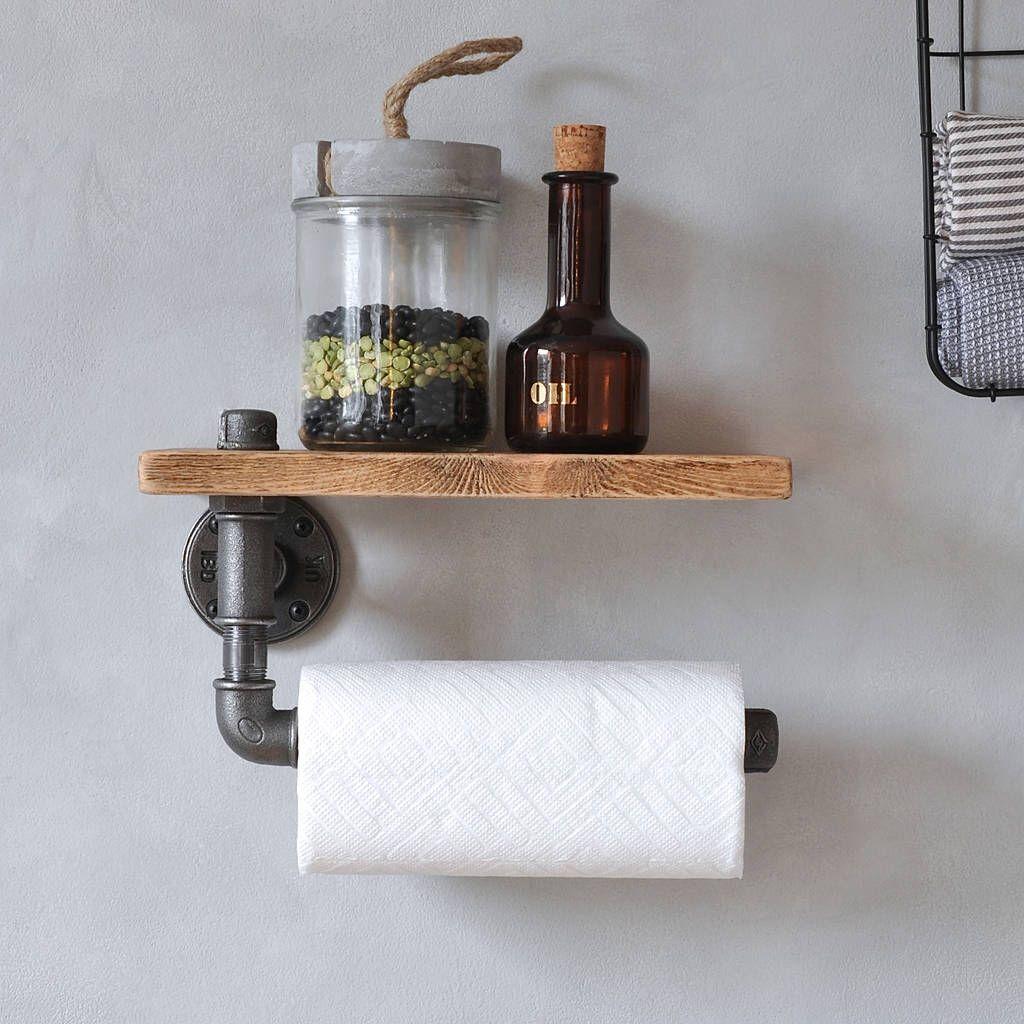 kitchen towel holder. I\u0027ve Just Found Industrial Kitchen Towel Holder And Shelf. An Steel Pipe P
