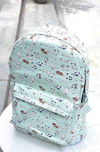 Japanese Game Neko Atsume ねこあつめ Cute Cat School Bag Backpack Canvas Gift b2  CoSmile a60d0246776b9