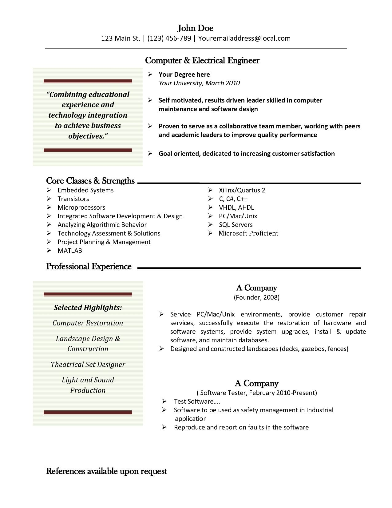 Resume Templates For Mac  HttpJobresumesampleComResume