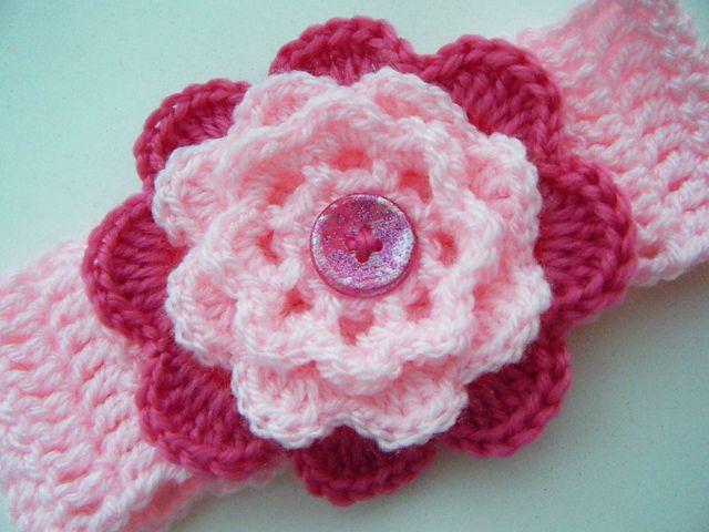 Crochet baby headband free pattern | Crocheting Ideas | Pinterest ...