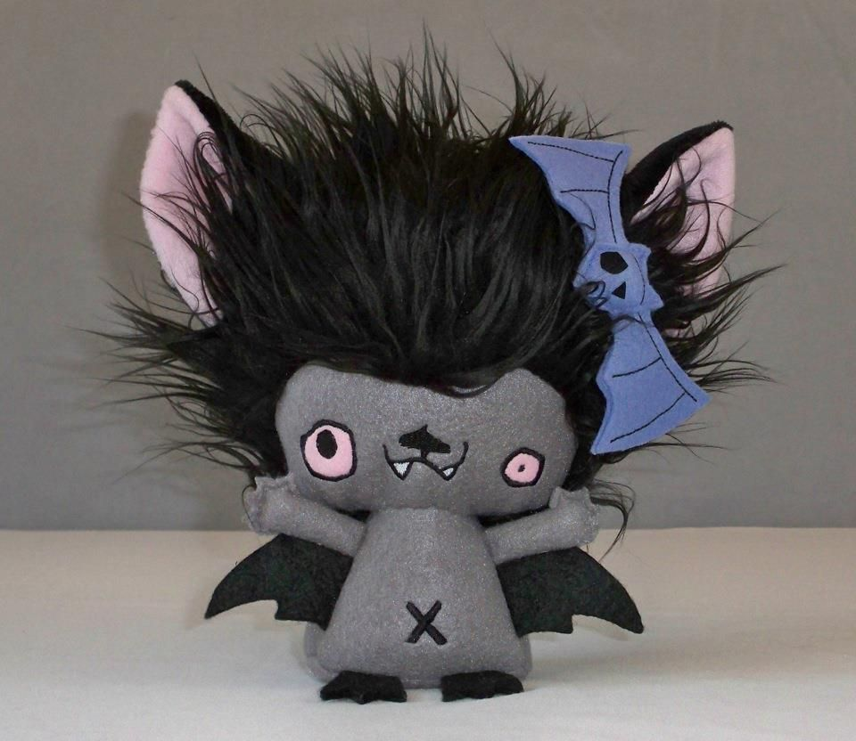 Hector the Gloomvanian vampyre baby bat. #Vamplets #Plush