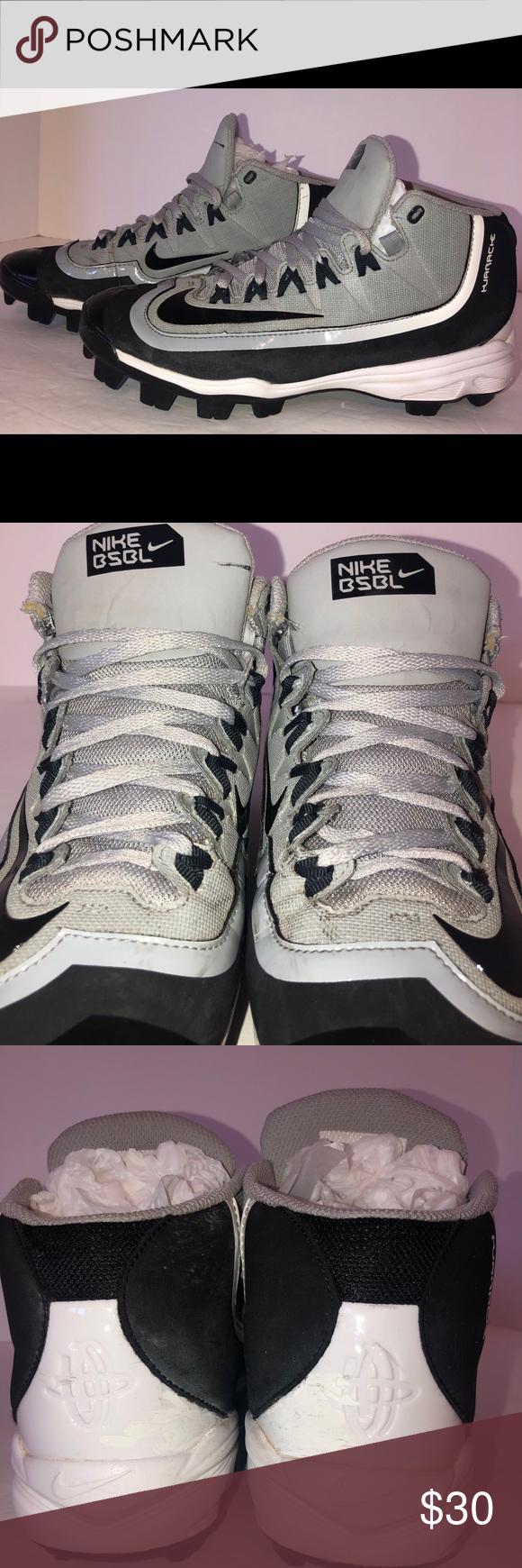 e279cadb8 Mens Nike Gray Huaraches Baseball Cleats Size 7 Mens Nike Huarache 2K Filth  ProMid MCS Baseball