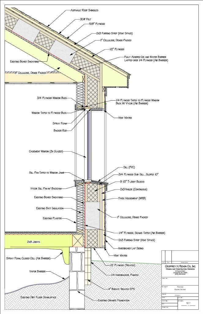 Seccion Por Fachada Passive House Design Architecture Blueprints Architecture Details