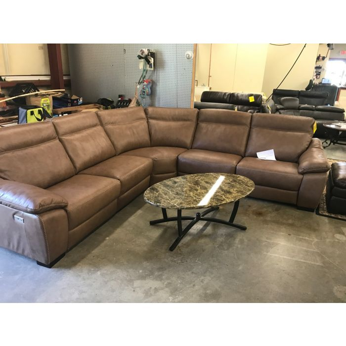 CLOSEOUT! Gennaro 5-pc Leather Sectional Sofa With 3 Power
