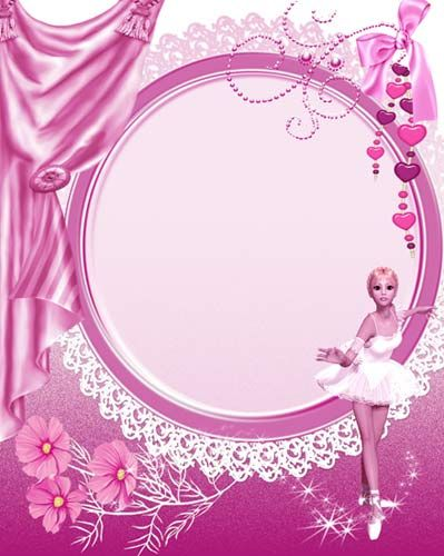 pink frame | ... Beautiful Photoshop Frames for Editing Pictures and ...