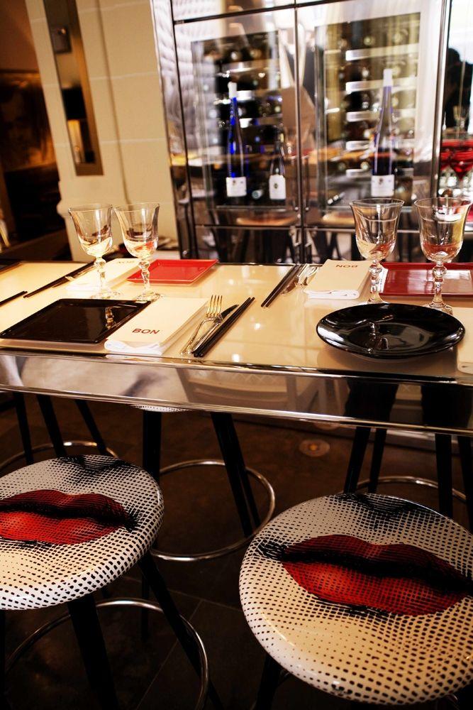 bon i restaurant after renovation paris designed by philippe starck interior bar. Black Bedroom Furniture Sets. Home Design Ideas