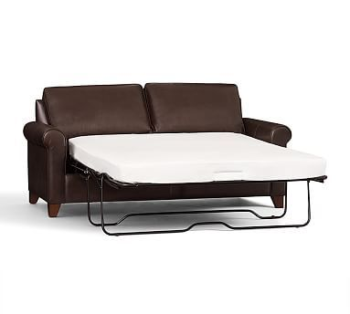 Pleasing Cameron Roll Arm Leather Sleeper Sofa Polyester Wrapped Beatyapartments Chair Design Images Beatyapartmentscom
