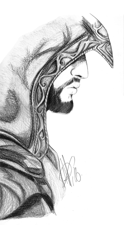 Ezio Auditore Da Firenze Dibujos Superheroes Dibujos A Lápiz