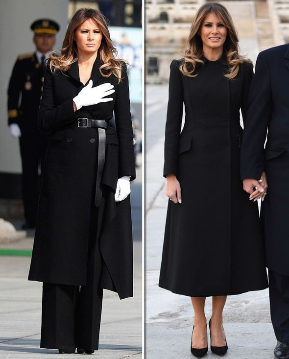 3c38a2c2c Melania Trump wears identical coats in Beijing and South Korea with ...