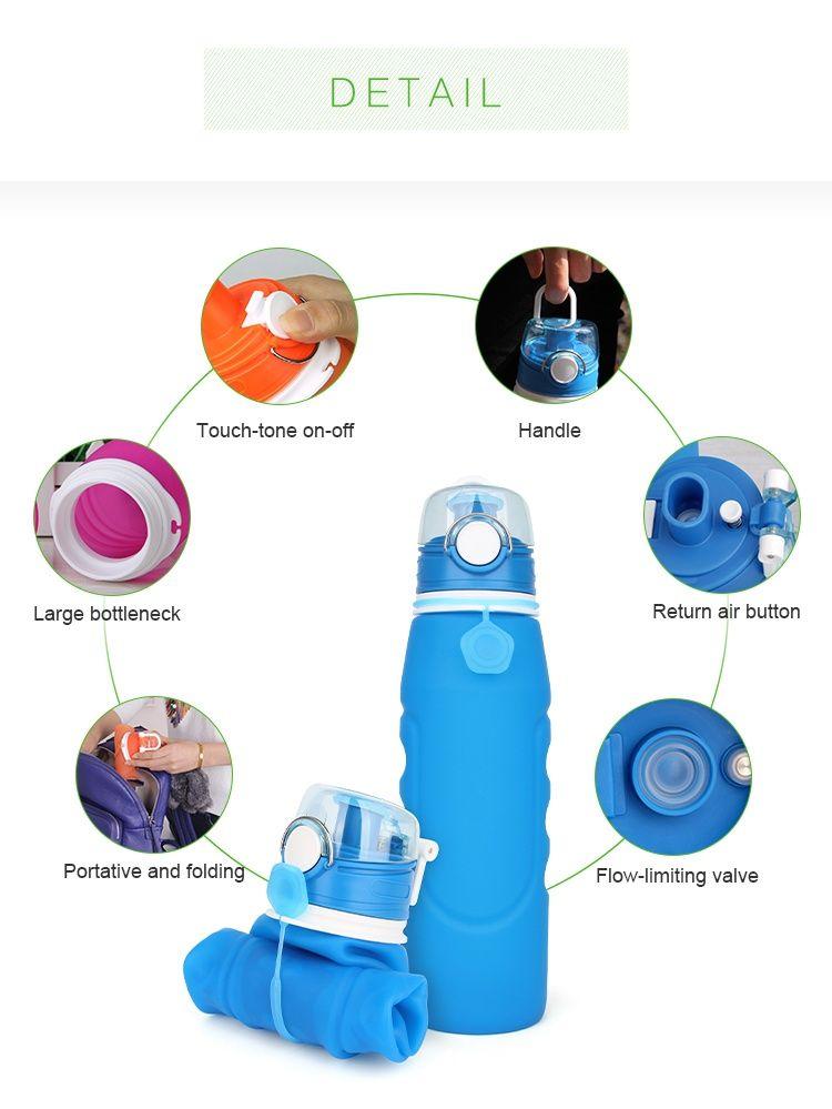 2017 New Design Foldable Water Bottle Med Bilder