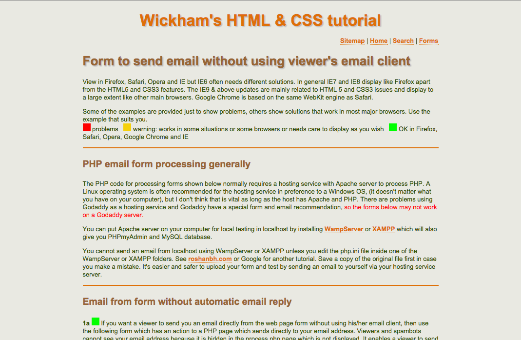 Http Www Wickham43 Net Formemail Php Send A Form Without Opening Email Client Html Php