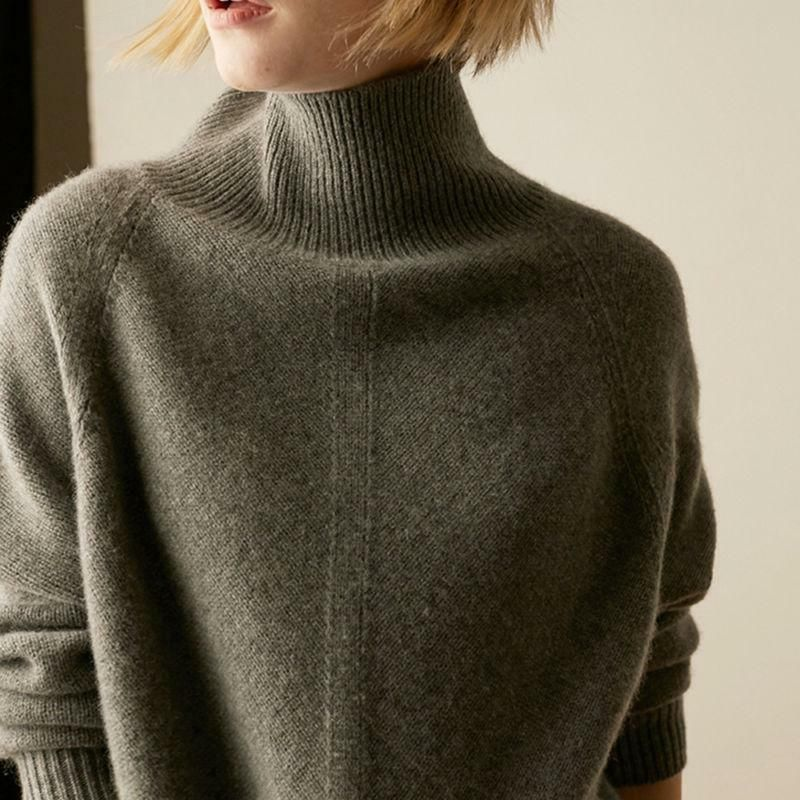 Women Cashmere Sweater High-Necked Pullovers Winter Warm Tops Knitwear Loose #fashion #clothing #shoes #accessories #womensclothing #sweaters (ebay link)