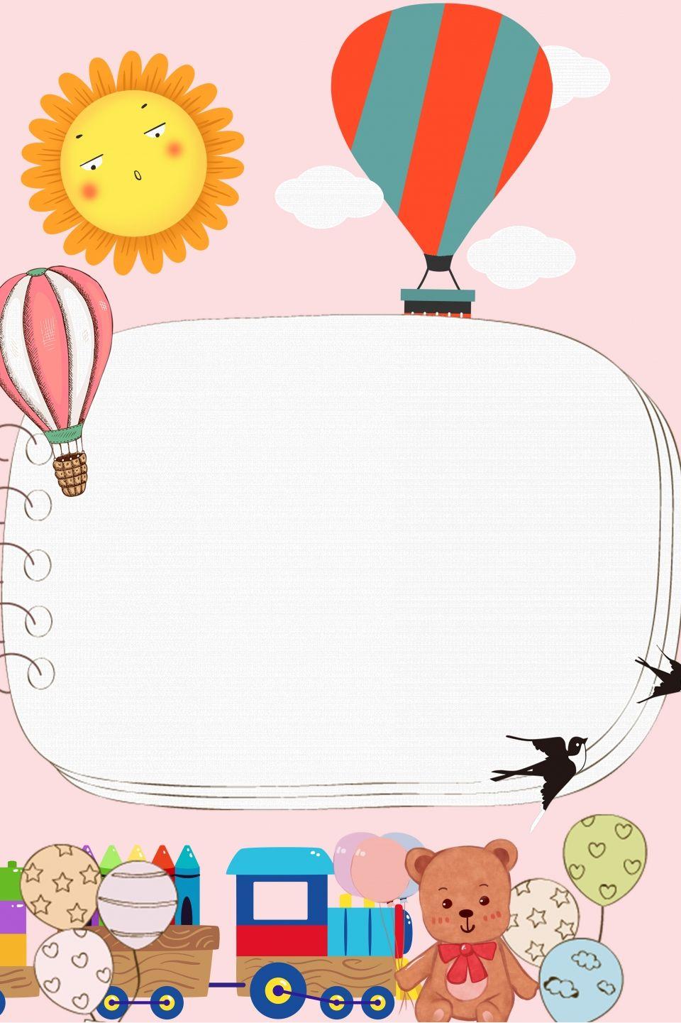 Children Kids Background Photo Book Template Cartoon Background
