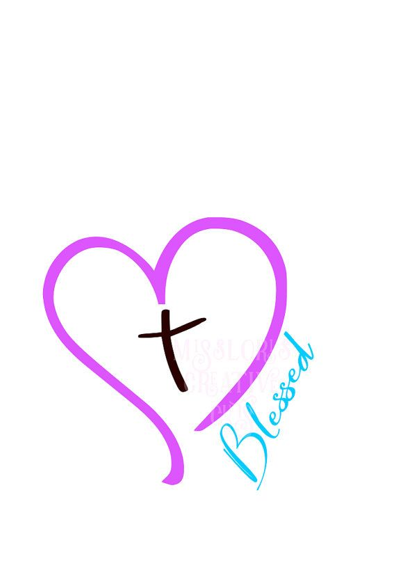 aefbb260e45fb Heart Cross Blessed SVG Cut file Cricut by MissLoriscreativecut ...