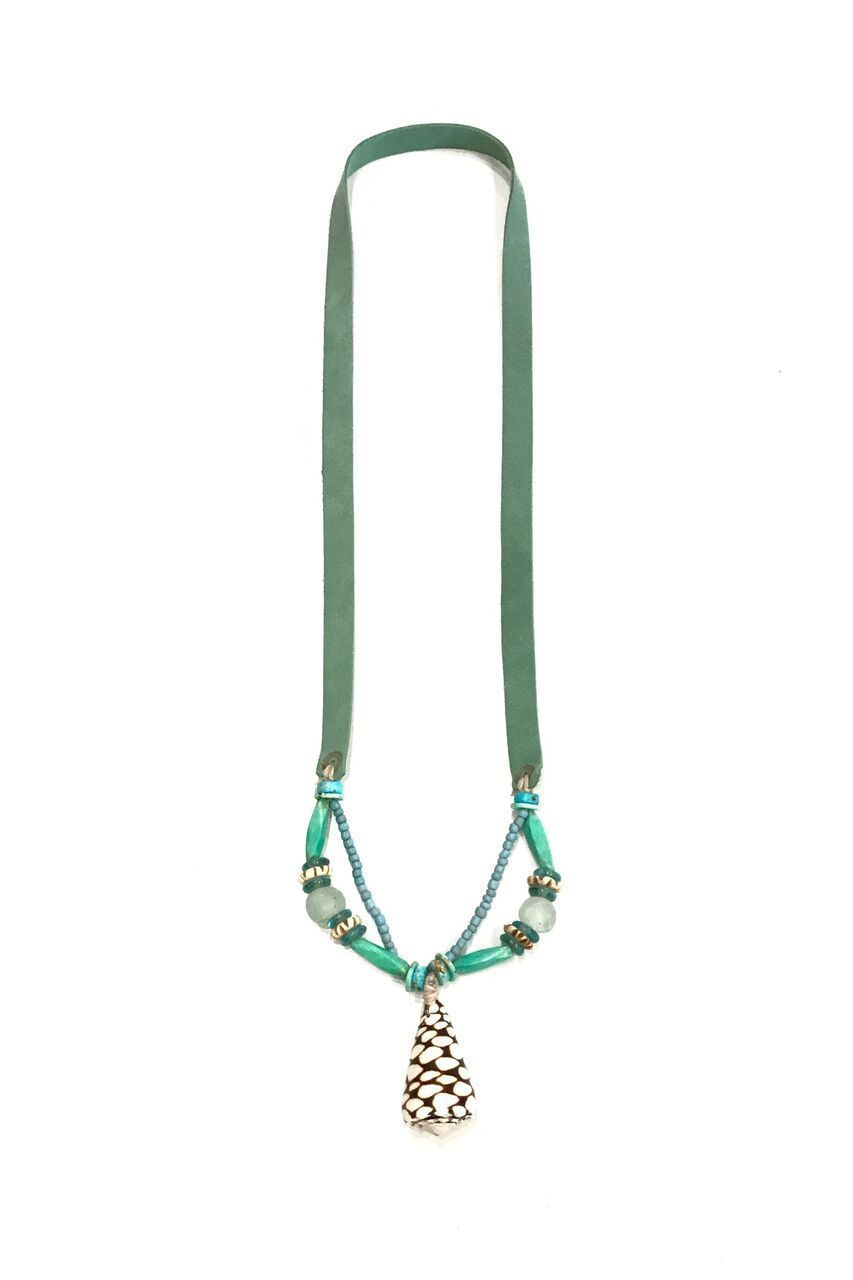 Twine and Twig Slim Shell Necklace- Surf | Shell necklaces ...