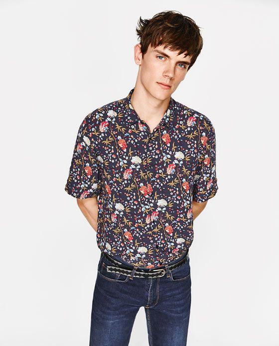 ebce73225 CAMISA FLORES | Fash | Shirts, Shirt sleeves y Mens tops