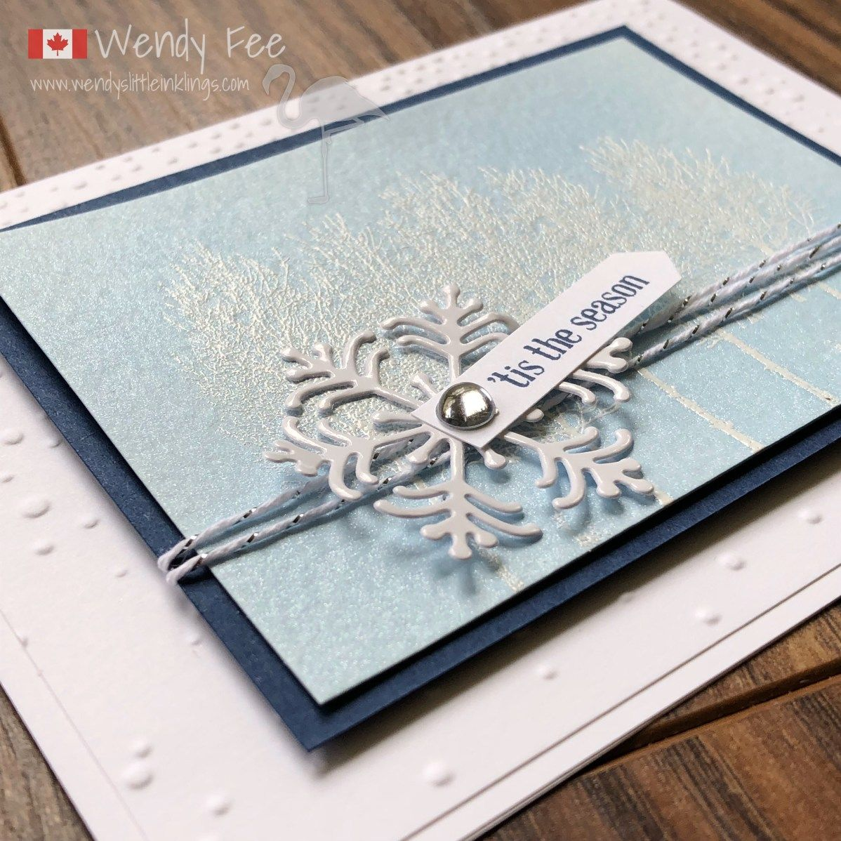 A Shimmery Winter Woods Holiday Card | Christmas | Pinterest ...