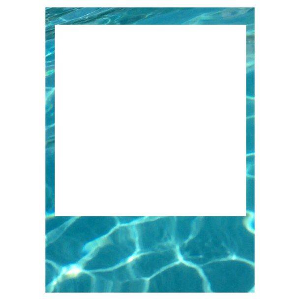 Picture Polariod Pool Transparent Tumblr Polariod Frame