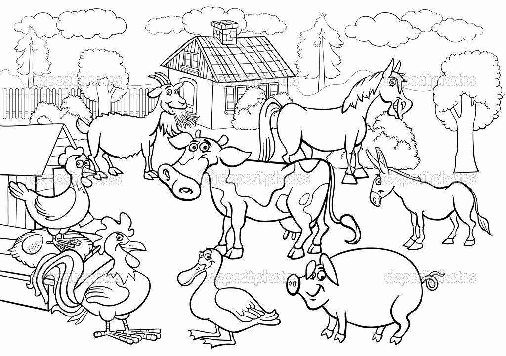 24 Farm Animals Coloring Page In 2020 Farm Animal Coloring Pages