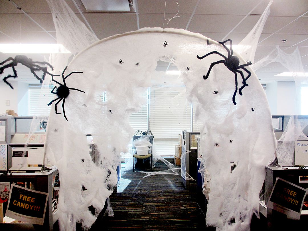 Office Halloween Spider Hole With Images Halloween Office