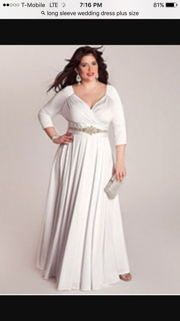 Wedding dresses cheap plus size  Wedding dress plus size long sleeve  Simple I Do  Pinterest