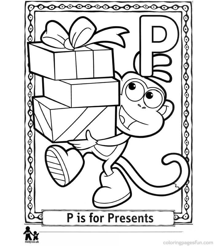 Dora the Explorer Alphabet Coloring Pages P In this page you can ...
