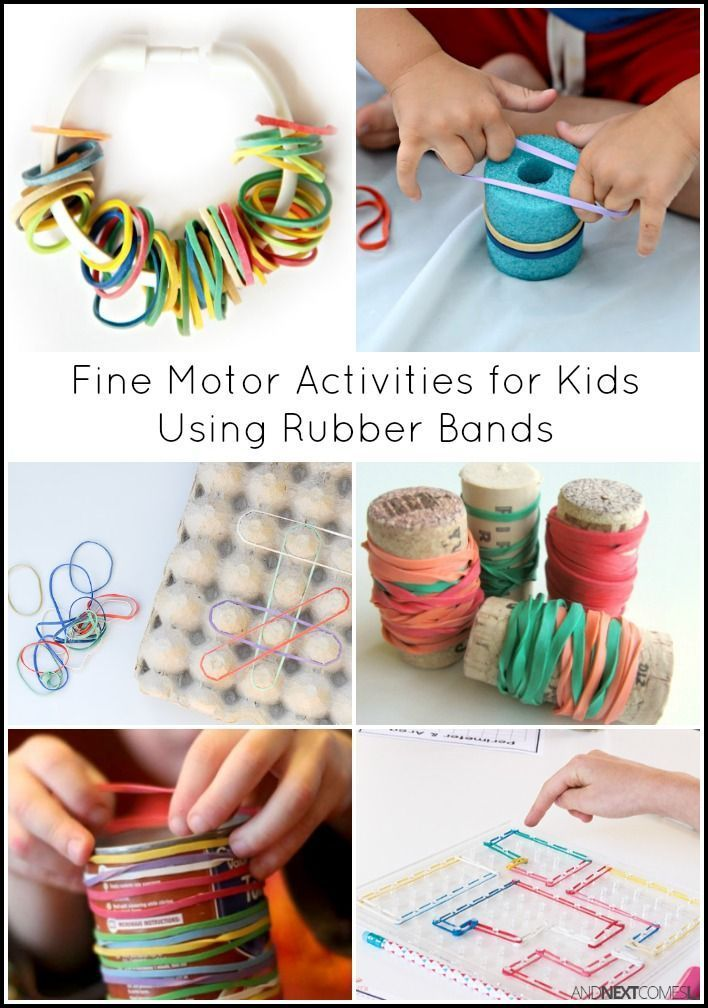 15 Simple Fine Motor Activities For Kids Using Rubber Bands Motor Activities Rubber Bands And