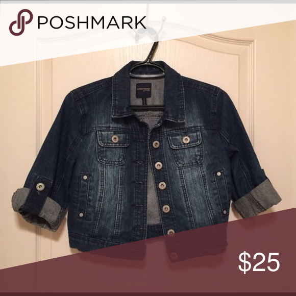 Jean Jacket Dark blue denim - like new!  3/4 sleeve. Jackets & Coats Jean Jackets