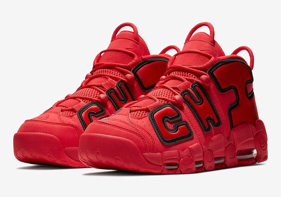 Detallado Bigote Sonrisa  Chicago Nike Uptempos AJ3138-600 | SneakerNews.com | Nike air uptempo, Nike  shoes cheap, Nike shoes outlet