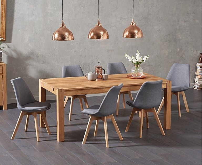 Verona 150cm Solid Oak Extending Dining Table With Duke Fabric Chairs In 2020 Solid Oak Dining Table Oak Dining Table Extendable Dining Table