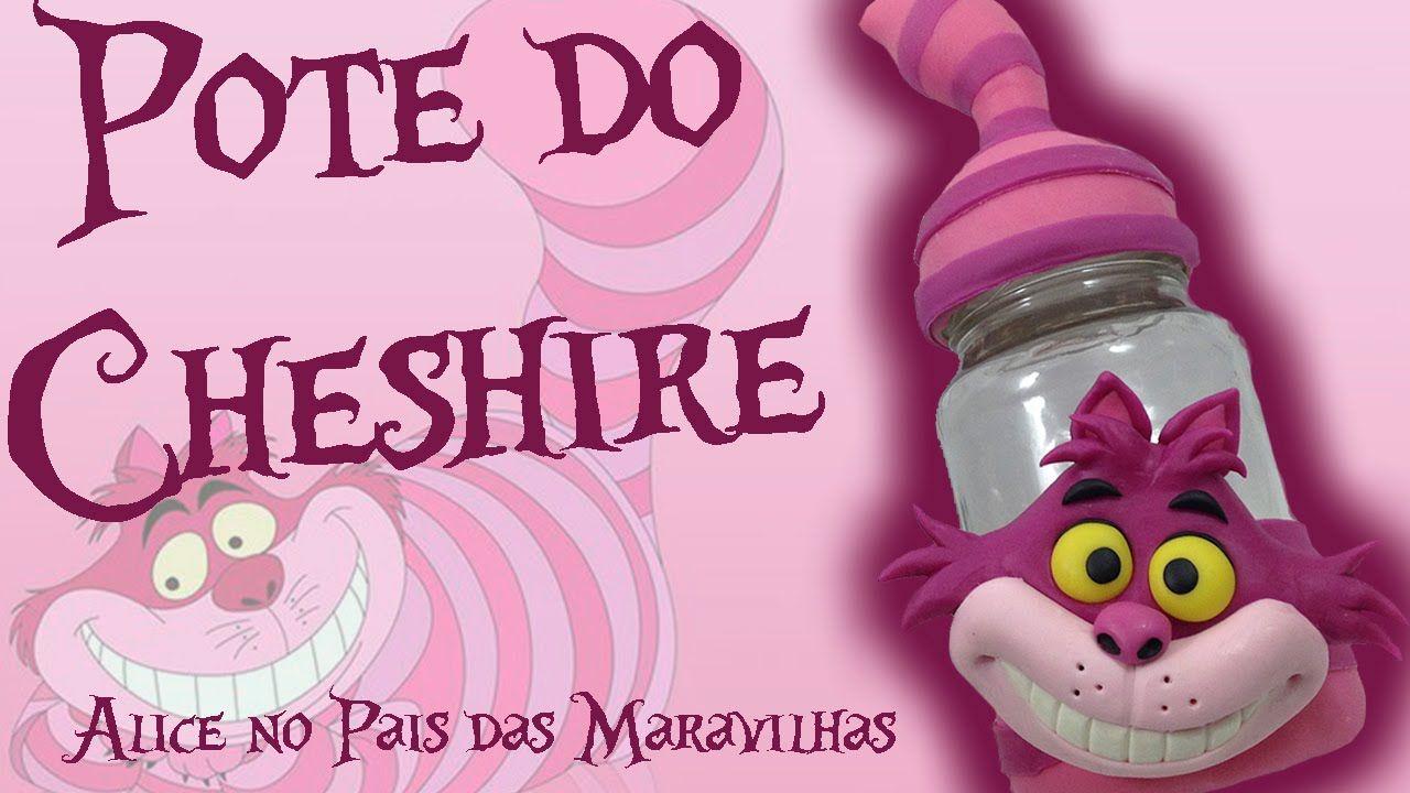 Diy Pote Gato Cheshire Gato Risonho Alice No Pais Das
