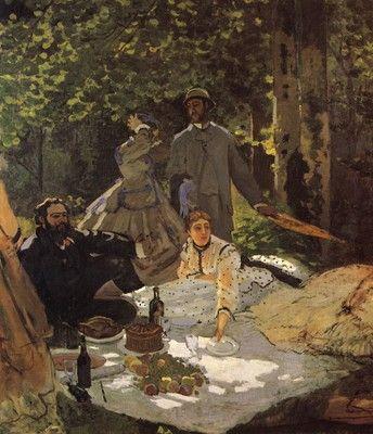 Claude Monet - Das Frühstück im Freien