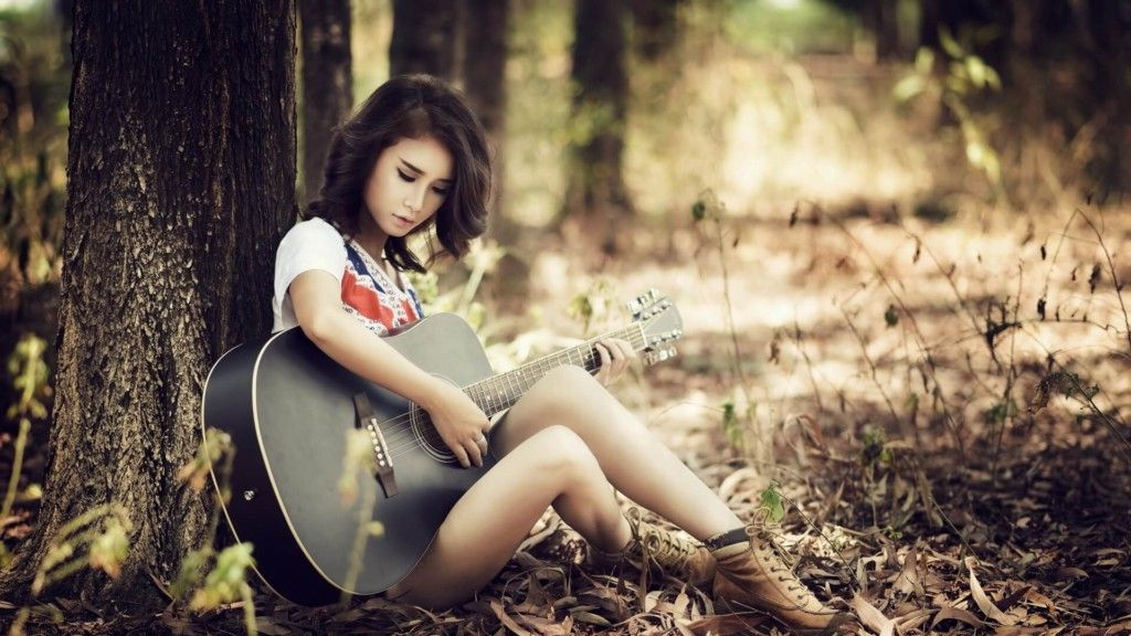 Girl With Guitar Wallpapers Cool Stylish Girls Photos M Best