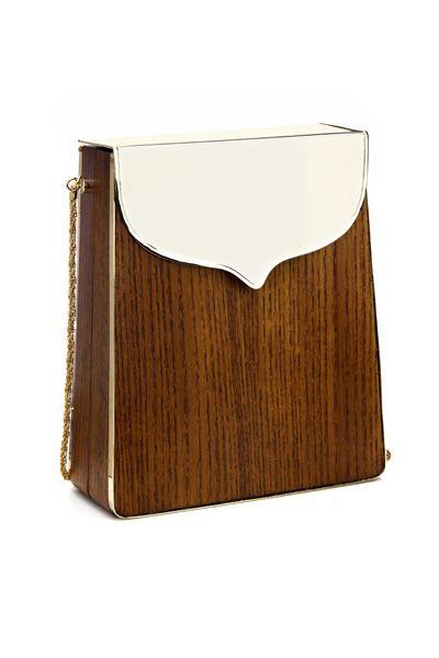 Jimmy Lena Erziak Handbag Nice Shape Again Achievable In Using A T M Articulated Roach And Wood Veneer For The Fold Over Closure