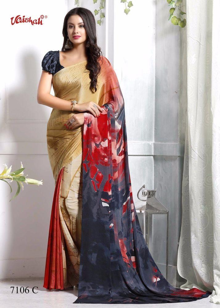 4c583b7978 NEW DESIGNER SARI INDIAN SAREE ETHNIC BOLLYWOOD PAKISTANI WEDDING PARTY WEAR  #Unbranded #SareeSari #CasualDailyWear
