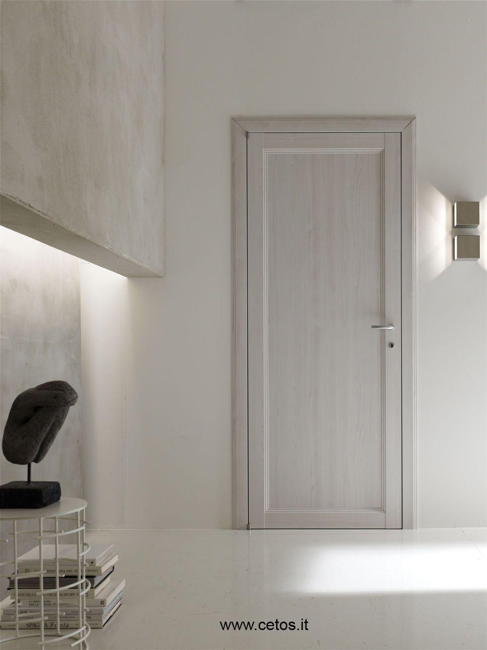 Porta interna in laminato finitura olmo sbiancato a opening in 2019 portes plafond - Prezzo porta interna ...